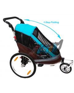 Remorque enfant vélo-poussette 1-step 1-2 enfant(s)