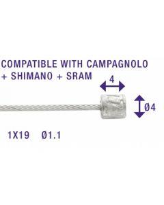 Câbles dérailleurs 100 pcs 2 250 mm inox lisses