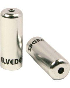 50 bagues scellées Ø4,2mm en aluminium argent