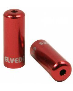 50 bagues scellées Ø5,0mm Aluminium Rouge