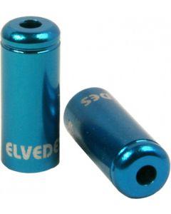 50 bagues scellées Ø5,0mm Aluminium Bleu