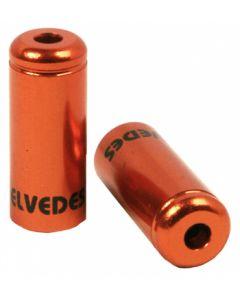 50 bagues scellées Ø4,2mm en aluminium orange