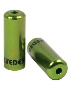 50 bagues scellées Ø5,0mm Aluminium Vert