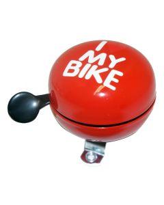 Sonnette I Love My Bike 60 mm Rouge