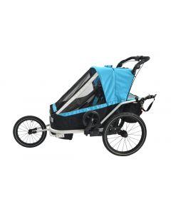 Remorque vélo 3-IN-1 pour 1 ou 2 enfants