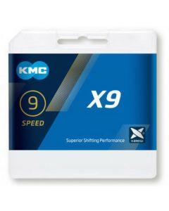 KMC Chaîne 9 vitesses X9.93 argent-gris