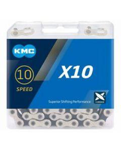 KMC Chaîne 10 vitesses X10 argent-noir