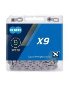KMC Chaîne 9 vitesses X9 gris