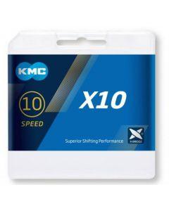 KMC Chaîne 10 vitesses X10 gris